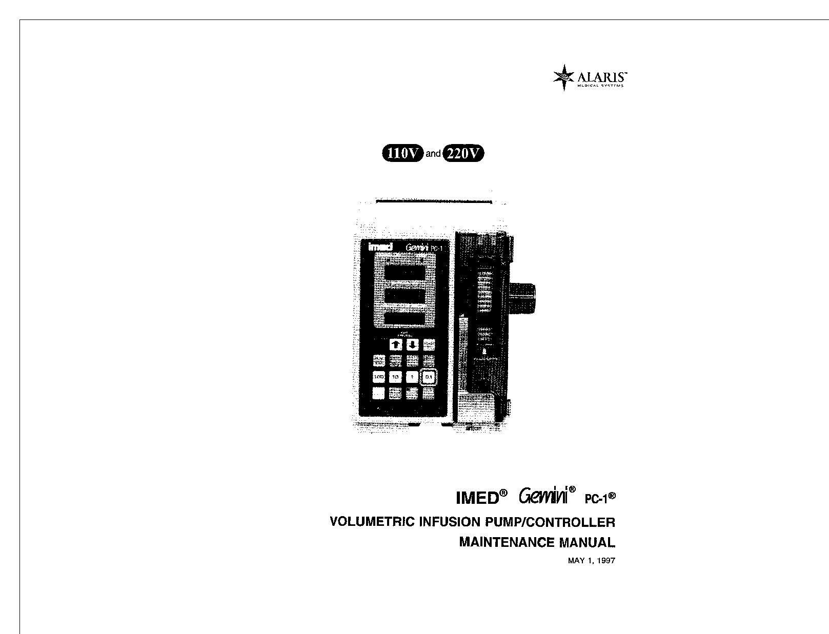 Imed Gemini PC-1 Service manual (1997)