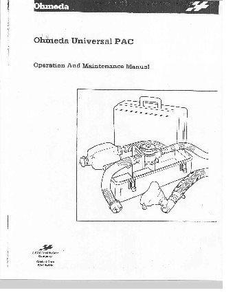 Ohmeda Universal PAC Maintenance manual