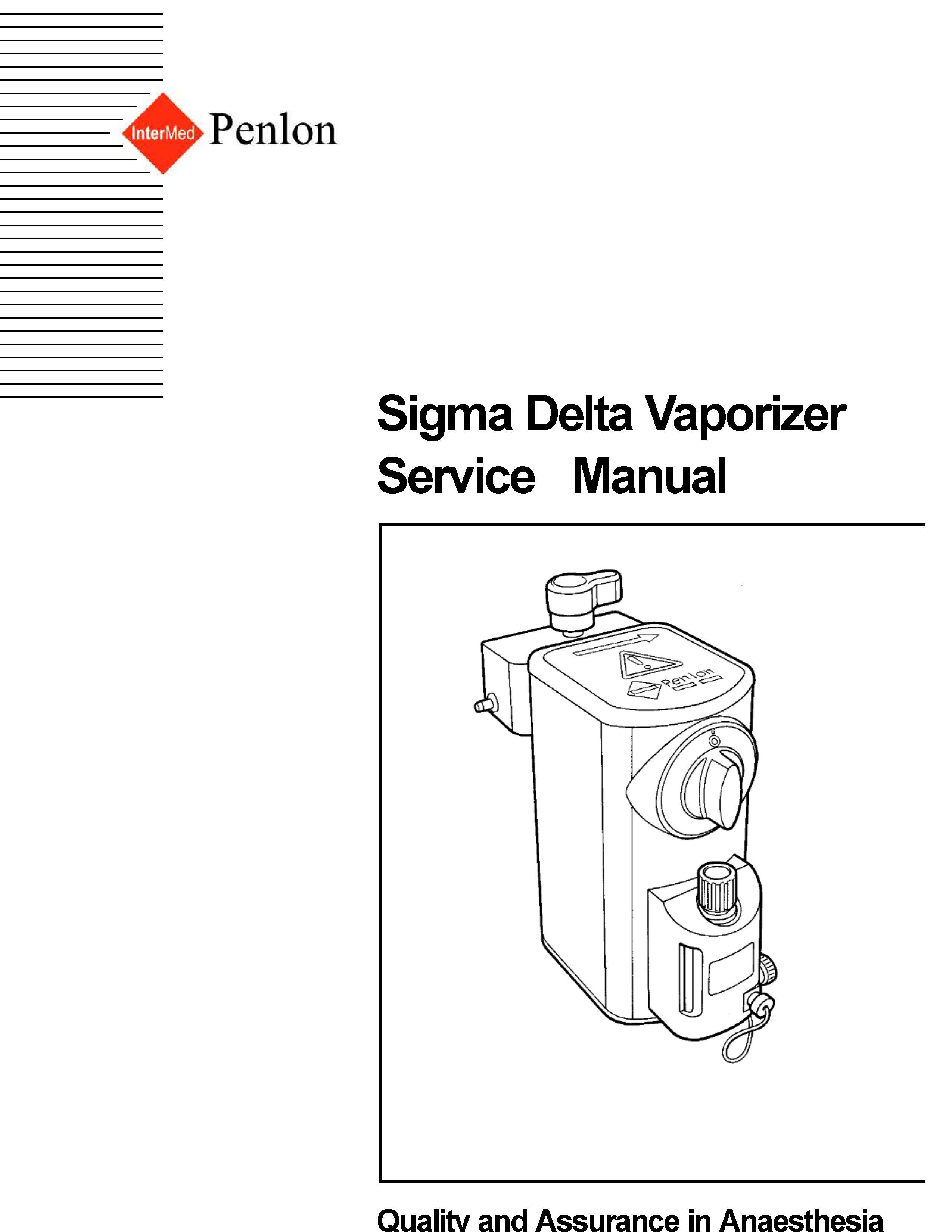 Penlon Sigma Delta Service manual