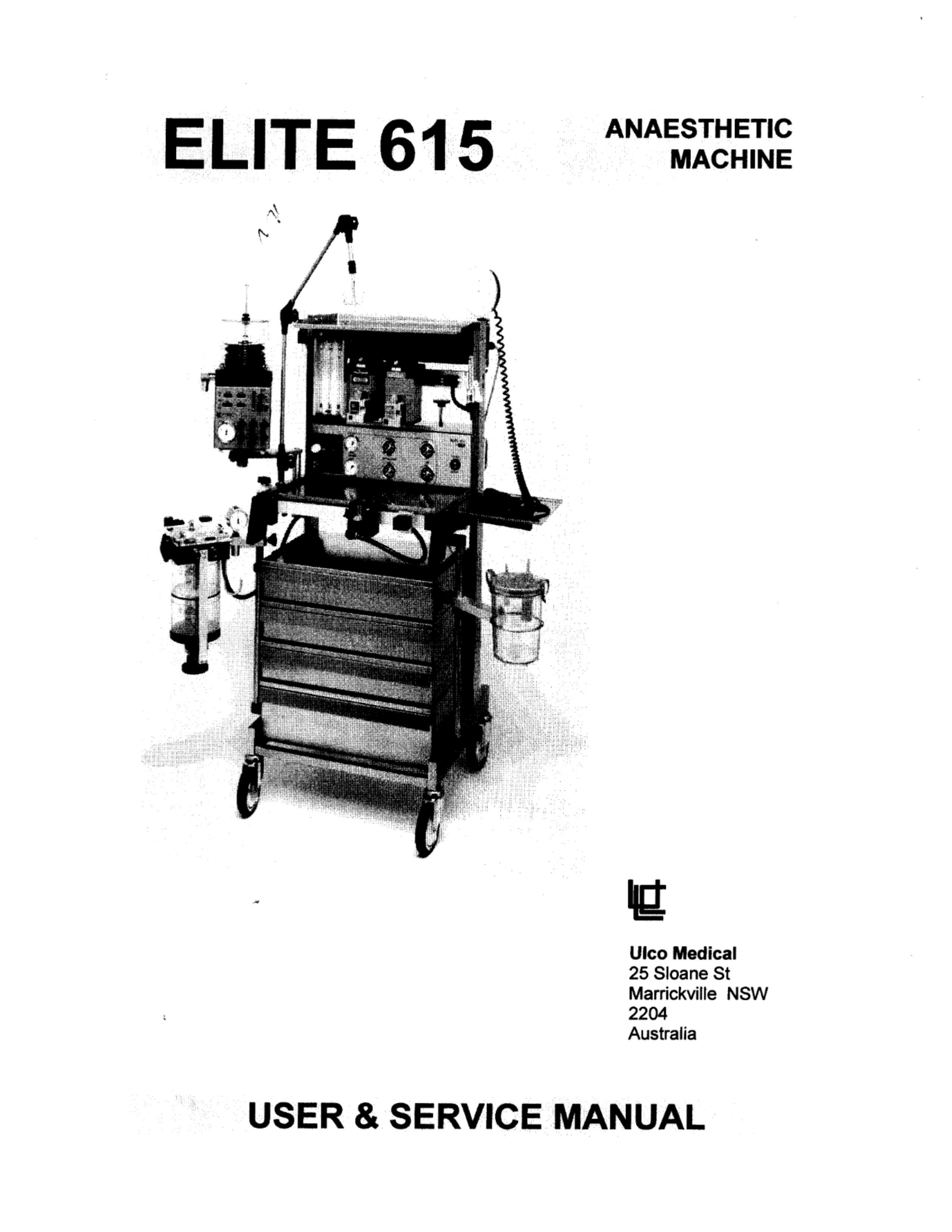 Ulco Elite 615 Service manual