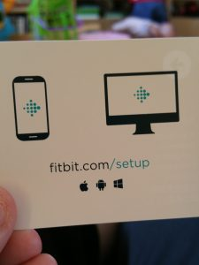 A card directing your to the Fitbit website