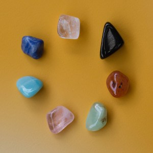 Full Chakra Crystal Set | Golden Blue