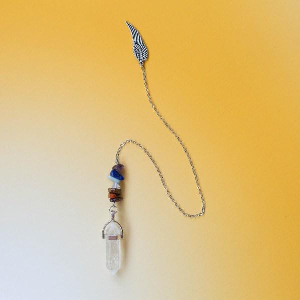 Clear Quartz Pendulum | Golden Blue