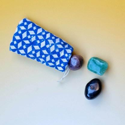 Heart & Healing Crystal Set | Golden Blue