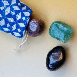 Heart & Healing Crystal Set | Golden Blue