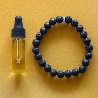 Essential Oil Bracelet   Golden Blue