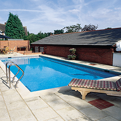 Swimmer Platinum Block & Liner<br>Flat Bottom Pool Kit - 5m x 10m