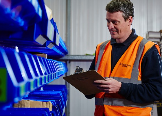 Jez knows every square foot of our warehouse like the back of his hand.