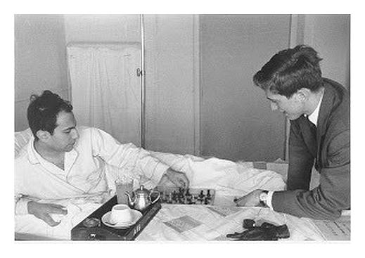 Bobby Fischer meets Mikhail Tal