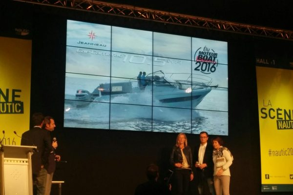 The Cap Camarat 10.5 WA was honoured with the award at the Paris Boat Show