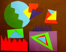 Geometric Shape Art Golden Eagle Class
