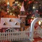 Antique Christmas Tree Fences Golden Glow