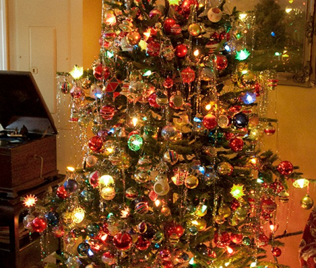 Glass Christmas Ornaments S S Shiny Brite Tree