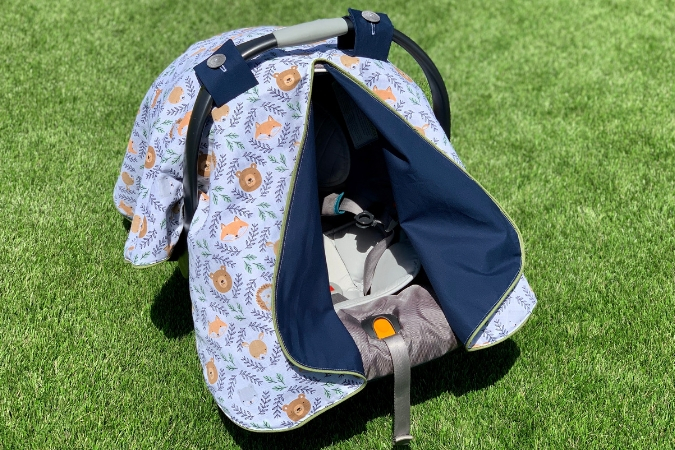 Diy Car Seat Canopy Cover Free, Infant Car Seat Cover Pattern Free