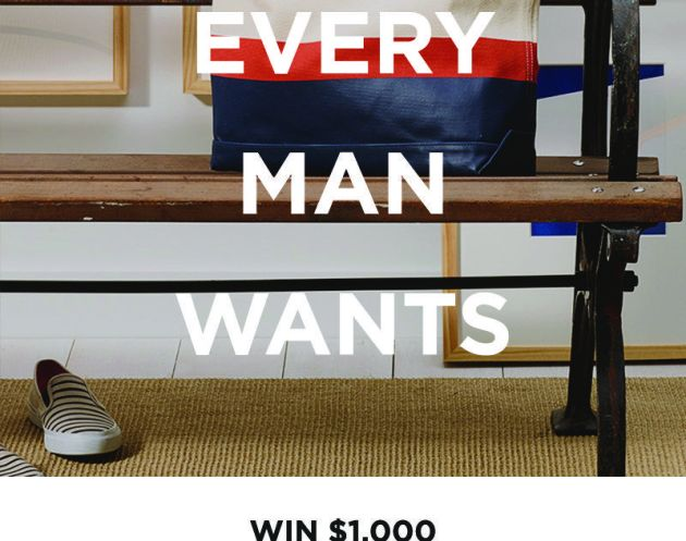 Win $1,000 Jack Spade Shopping Spree