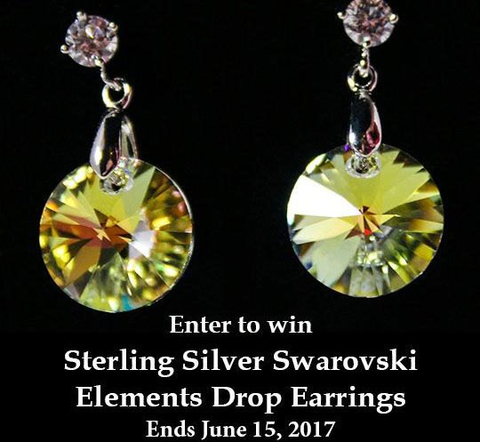Enter to win Swarovski Elements Earrings