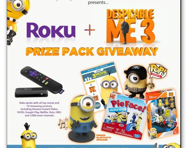 "AlertBot Roku + ""Despicable Me"" Prizes Giveaway!"