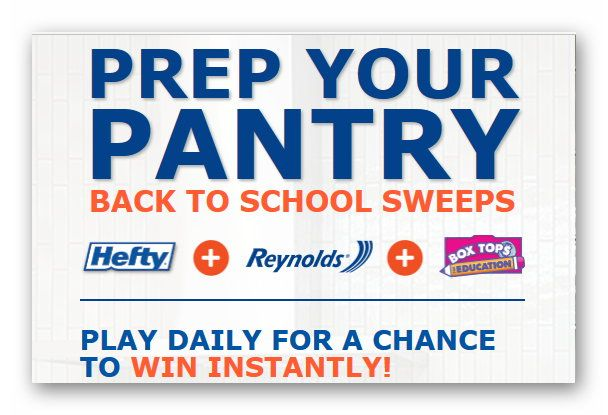 Prep Your Pantry Back to School Instant Win Game