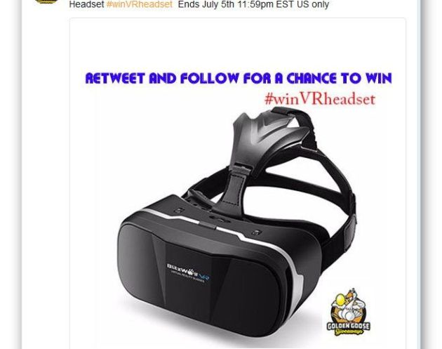 Retweet and Follow to win a Blitzwolf VR Headset