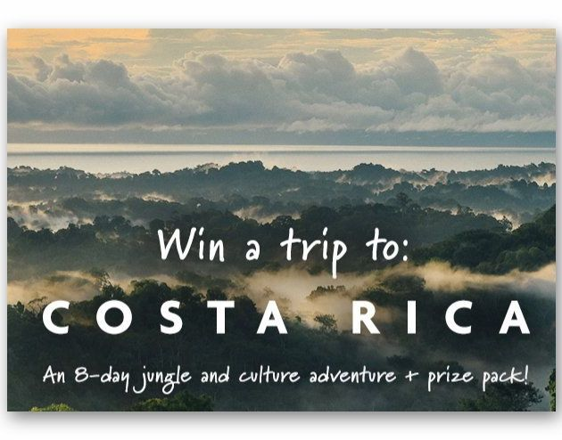 Win an Epic, Sustainable Adventure to Costa Rica