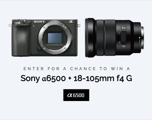 Win Sony α6500 Mirrorless 4K Camera w/ 18-105mm F4 G lens
