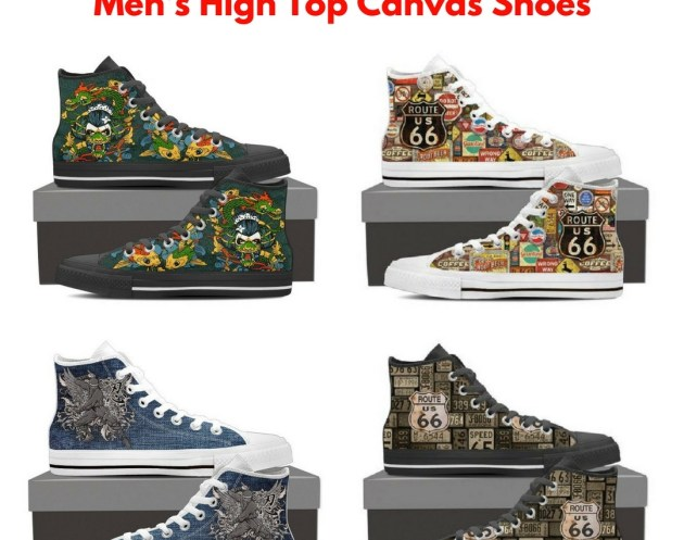 Shopeholic - Men's High Top Canvas Shoes Giveaway