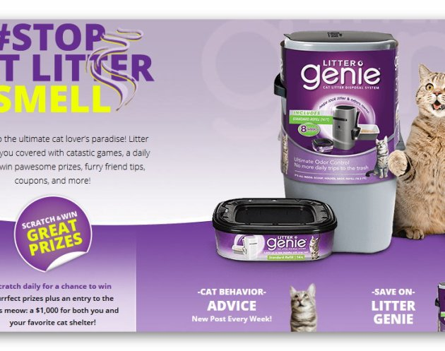 Litter Genie #StopCatLitterSmell Cat Scratch Instant Win Game