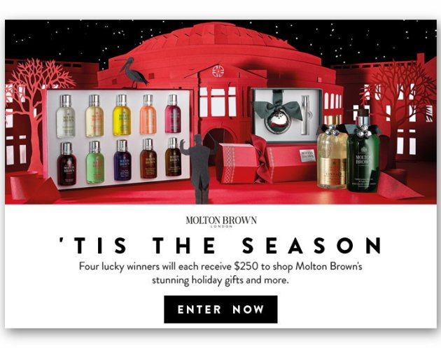 Win A $250 Molton Brown Shopping Spree