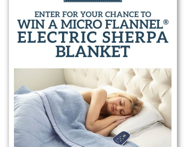 Enter For A Chance To Win A Micro Flannel® Electric Blanket