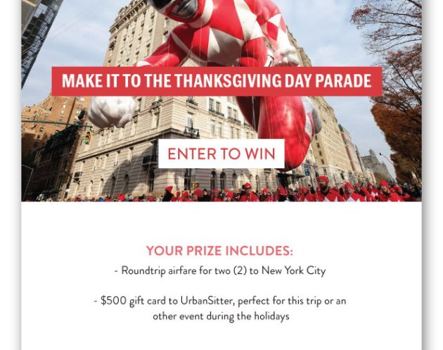 Make it to the Thanksgiving Day Parade