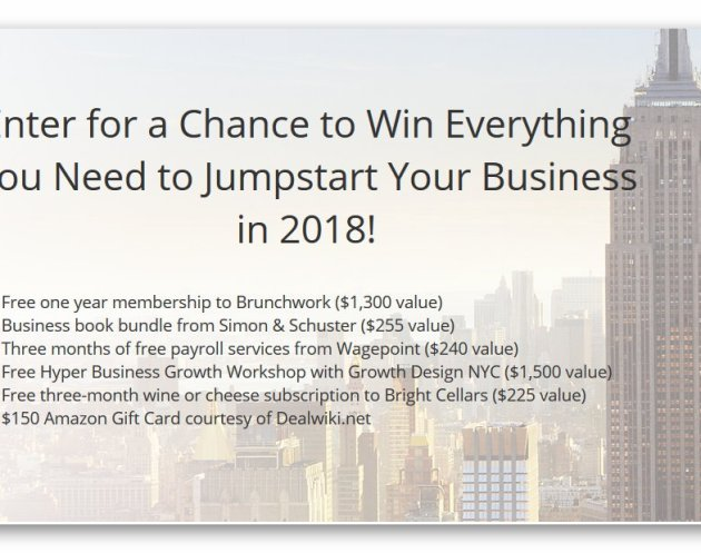 Jumpstart your Business in 2018 Giveaway