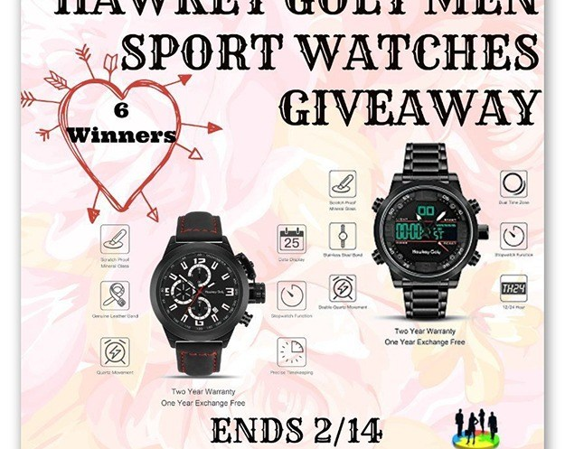 Win a Hawkey Goly Men Sport Watch Giveaway