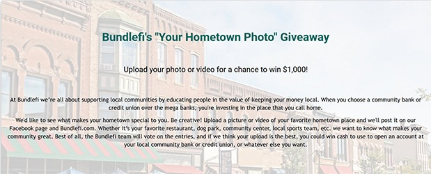 "Win $1,000 in Bundlefi's ""Your Hometown Photo"" Giveaway"
