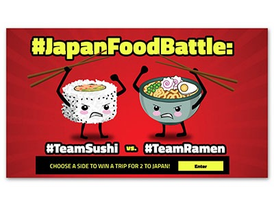 the Japan Food Battle Sweepstakes