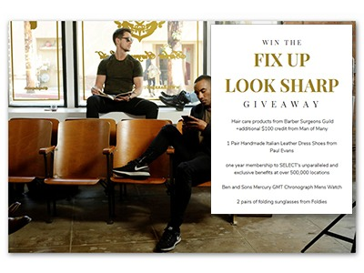 Fix Up Look Sharp Giveaway