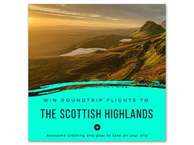 Win Roundtrip Flights to Scottish Highlands + Travel Gear