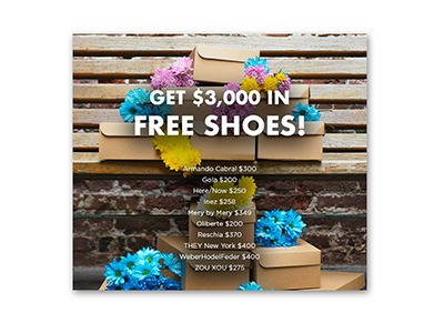 Win $3,000 of Free Shoes