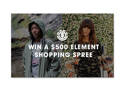 Element $500 Shopping Spree Sweepstakes