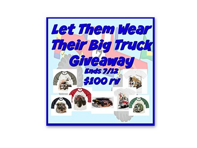 Let Them Wear Their Big Truck Giveaway
