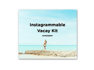 Win a $2,000 Instagrammable Vacation Kit