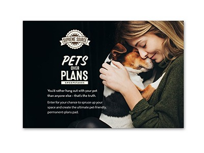 Pets over Plans Sweepstakes