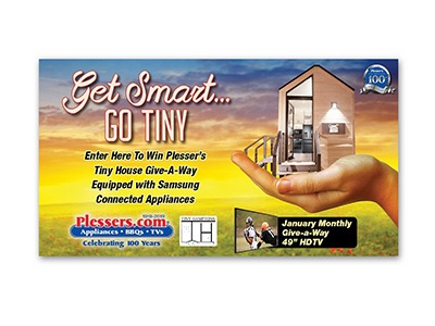 Plesser's Tiny House Giveaway & Instant Win Game