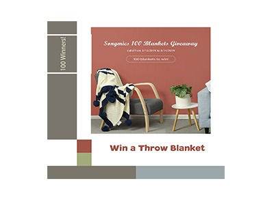 Win a Songmic Throw Blanket