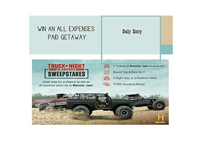 Truck Night in America Sweepstakes
