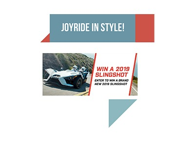 Win a Polaris Slingshot