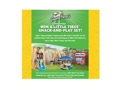 Frigo Cheese Head Summer Fun Sweepstakes