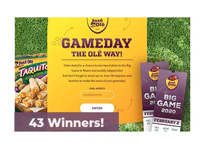 Jose Ole Game Day Sweepstakes