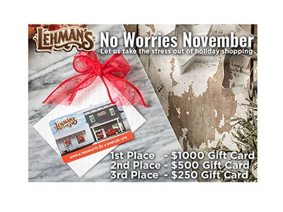 Lehman's Gift Card Giveaway