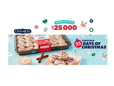 Cinnabon 25 Days of Christmas Sweepstakes