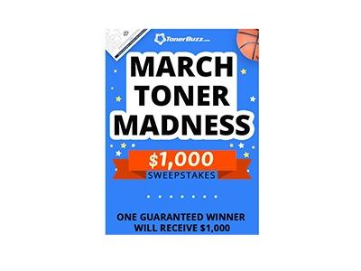 Toner Buzz $1,000 Cash Giveaway